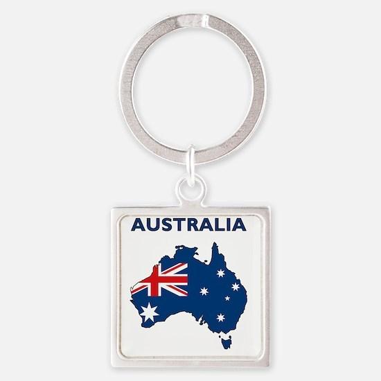 australia26 Square Keychain