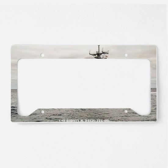 rmdavis large framed print License Plate Holder