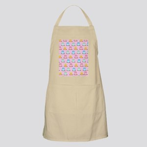 Pink Trendy Owl Shower curtain Apron