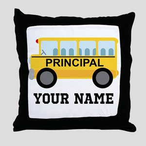 Personalized School Principal Throw Pillow