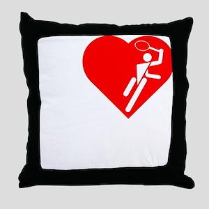 I-Heart-Tennis-3-darks Throw Pillow
