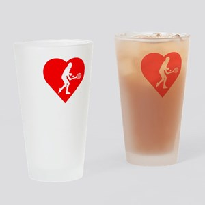I-Heart-Tennis-darks Drinking Glass