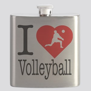 I-Heart-Volleyball Flask