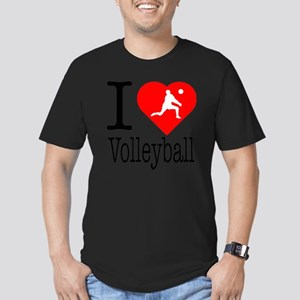 I-Heart-Volleyball Men's Fitted T-Shirt (dark)