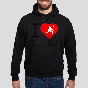 I-Heart-Volleyball Hoodie (dark)