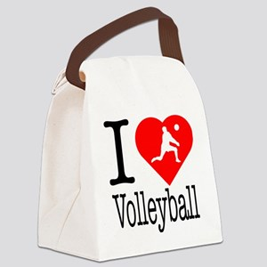 I-Heart-Volleyball Canvas Lunch Bag