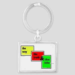 Way Truth Life Landscape Keychain