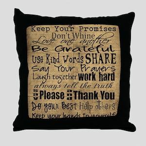 frbrown Throw Pillow