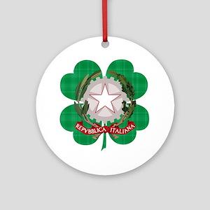 Irish Italian Heritage Round Ornament