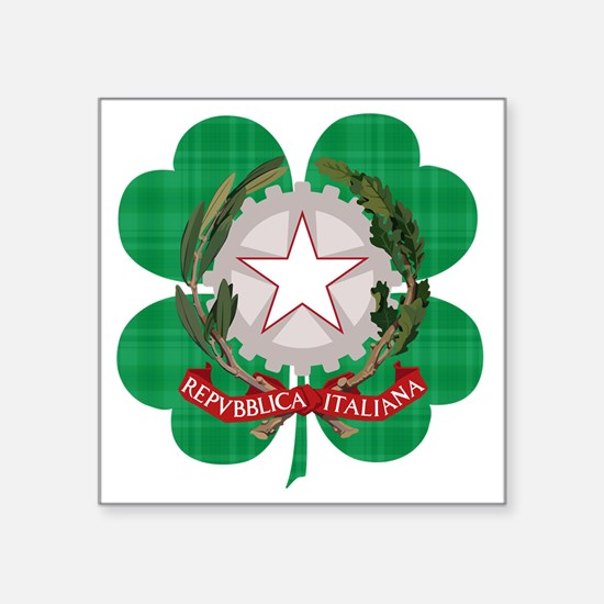 "Irish Italian Heritage Square Sticker 3"" x 3"""