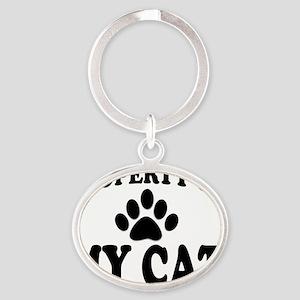 PropCatMouseBoW Oval Keychain