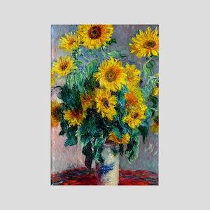 443 Monet Sunflowers Rectangle Magnet