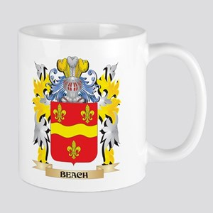 Beach Coat of Arms - Family Crest Mugs