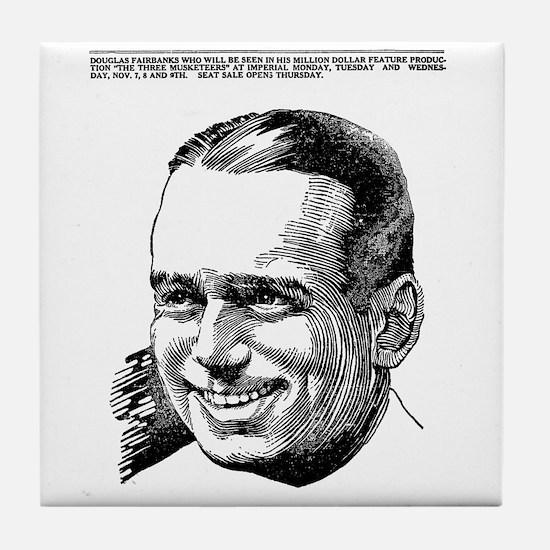 Douglas Fairbanks Tile Coaster