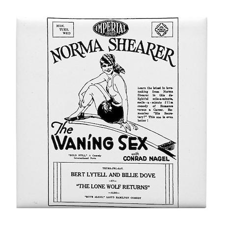 Norma Shearer Waning Sex Tile Coaster