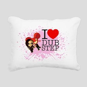 ilovedubstep Rectangular Canvas Pillow