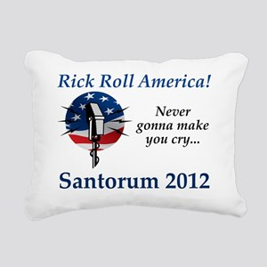 RickRollAmerica_flag Rectangular Canvas Pillow