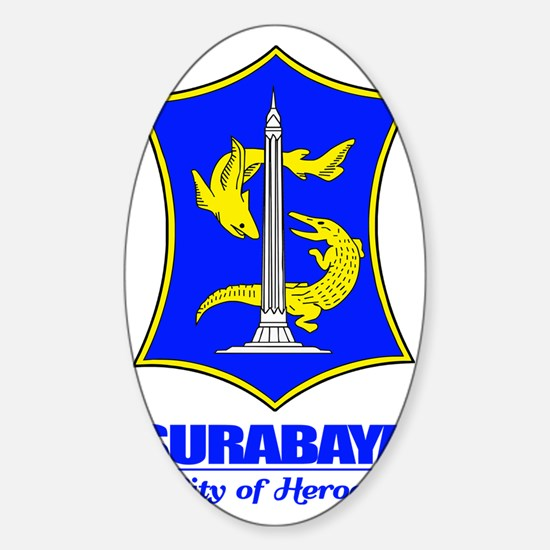 Surabaya (blue) Sticker (Oval)
