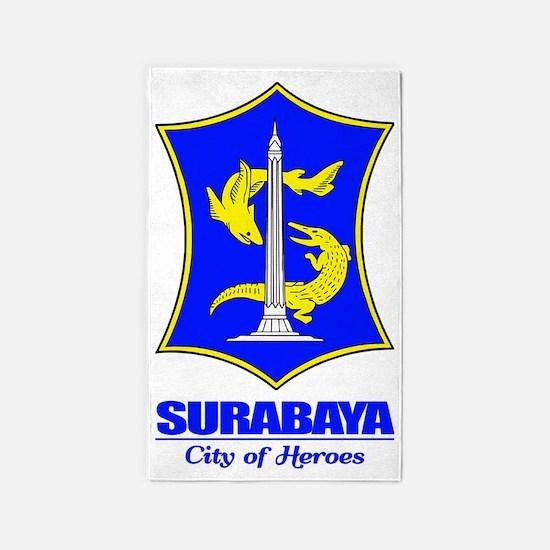 Surabaya (blue) 3'x5' Area Rug