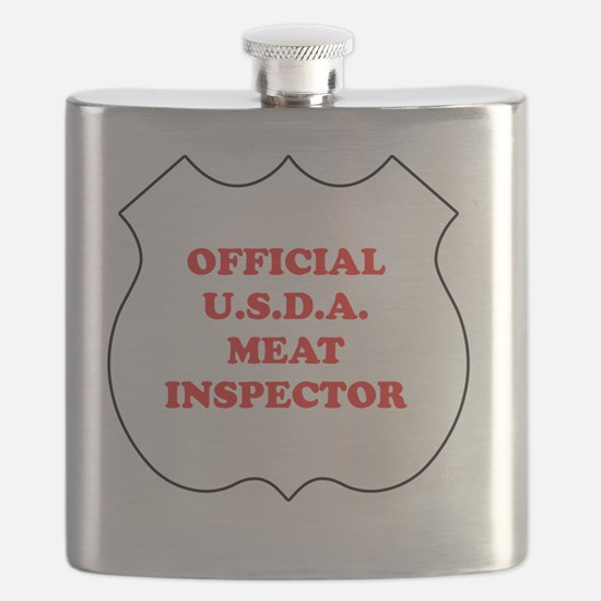 Official USDA Meat Inspector Flask