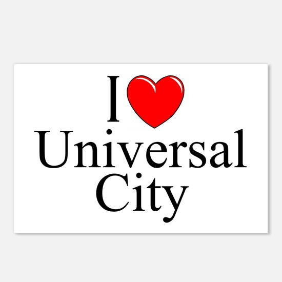 """""""I Love Universal City"""" Postcards (Package of 8)"""