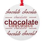 Celebrate Chocolate Round Ornament