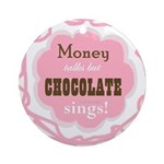 Chocolate Sings (round) Round Ornament