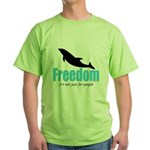 Dolphin Freedom Green T-Shirt
