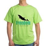 Dolphin Freedom Green T-Shirt