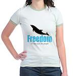 Dolphin Freedom Jr. Ringer T-Shirt