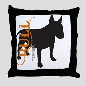 grungesilhouette3 Throw Pillow