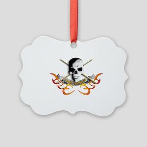 Drummer skull C Picture Ornament