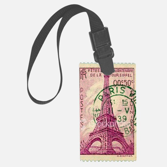Vintage Stamp Luggage Tag