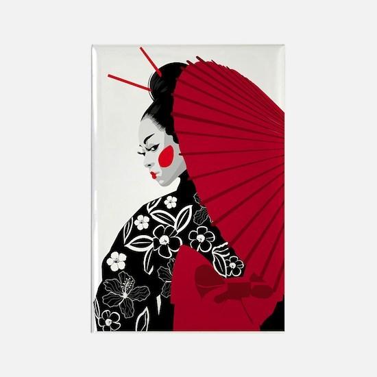 geishashowercurtain Rectangle Magnet