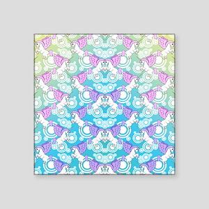"patternunicornflipflops Square Sticker 3"" x 3"""