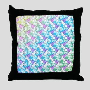 patternunicorns4CAFEPRESSbg Throw Pillow