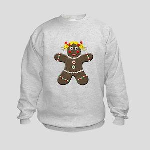 Gingerbread Girl Kids Sweatshirt