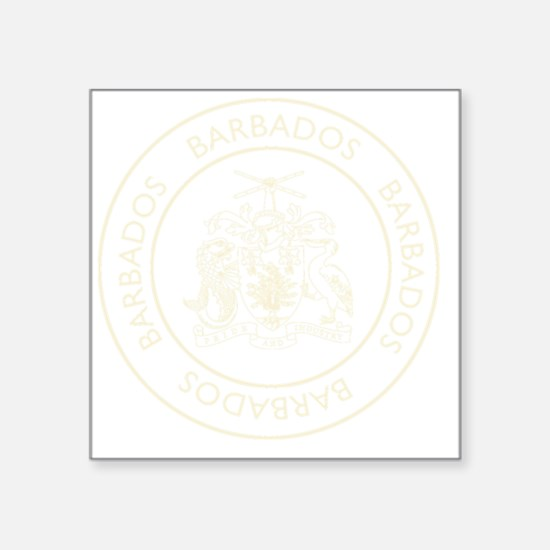 "Barbados6Bk Square Sticker 3"" x 3"""