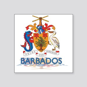 "3DBarbados3 Square Sticker 3"" x 3"""