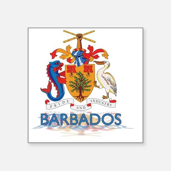 "3DBarbados3 Square Sticker 3"" x 3"""
