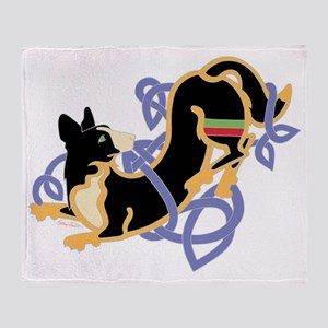 CWCorgiBlkTrans Throw Blanket