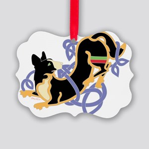CWCorgiBlkTrans Picture Ornament