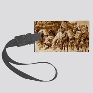 Mule Train Crossing the Sierras, Large Luggage Tag
