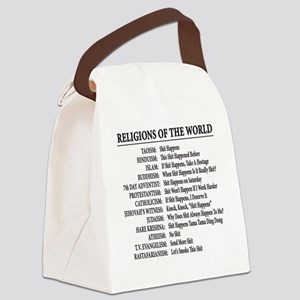 ReligionsOfWorld BLACK Canvas Lunch Bag