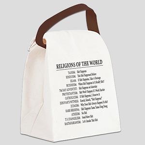 ReligionsOfWorld BLACK Canvas Lunch Bag
