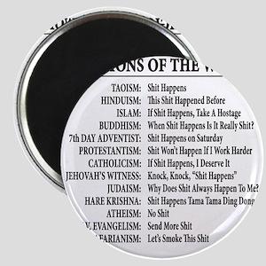 ReligionsOfWorld BLACK Magnet