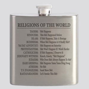 ReligionsOfWorld BLACK Flask