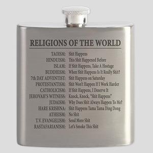 ReligionsOfWorld BLACK Flask