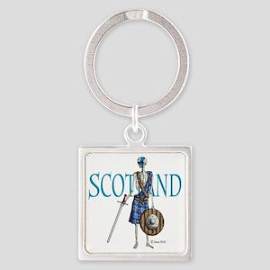 Braveheart white Square Keychain