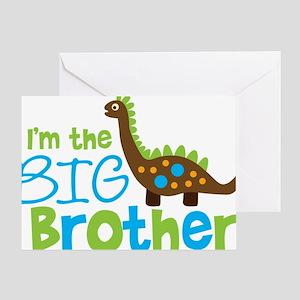 DinosaurImTheBigBrother Greeting Card